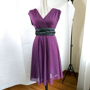 Moulinette Soeurs Plum Purple Cocktail Dress 10